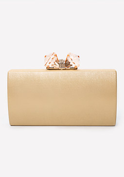 bebe Irina Jeweled Minaudiere