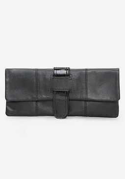 bebe Leather Clutch
