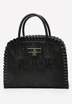 bebe Vergara Lace Satchel
