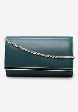 bebe Brooke Enamel Trim Clutch