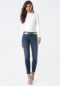 bebe Logo Skinny Jeans