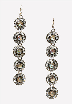 bebe Art Deco Circle Earrings