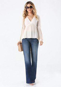 bebe High Waist Flared Jeans