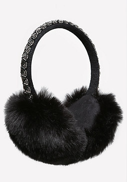 bebe Beaded Faux Fur Earmuffs