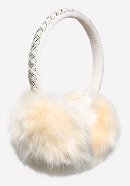 bebe Beaded Faux Fur Earmuffs