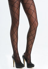 bebe Diamond Detail Pantyhose