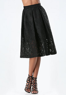 Jacquard Tea Length Skirt
