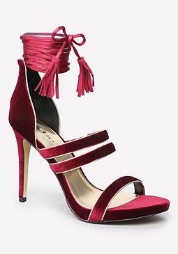 bebe Gwenth Velvet Sandals
