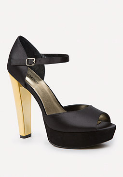 bebe Lenaa Plated Heel Sandals