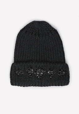 bebe Jeweled Beanie