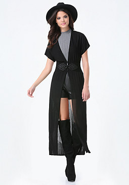 bebe Long Kimono Cardigan
