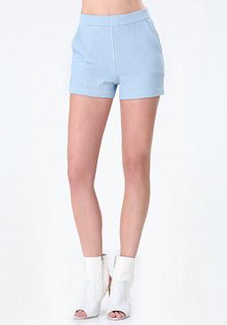 bebe Janice Jacquard Knit Shorts