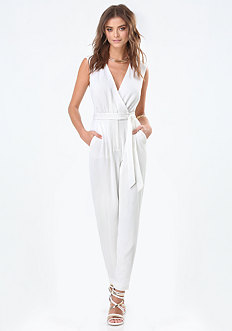 Sleeveless Wrap Jumpsuit