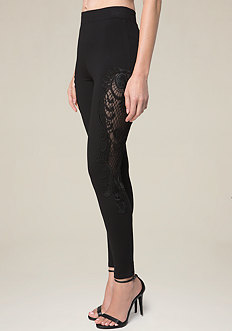 Lace Pieced Leggings