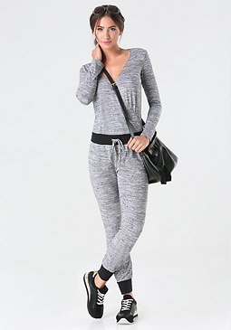 bebe Space Dye Knit Jumpsuit