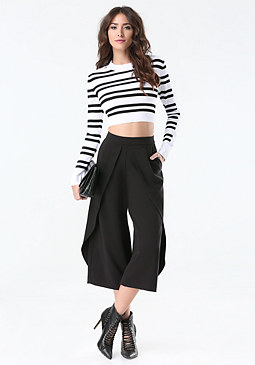 bebe Wrap Front Culottes