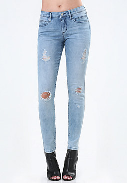 bebe Sunspear Heartbreaker Jeans