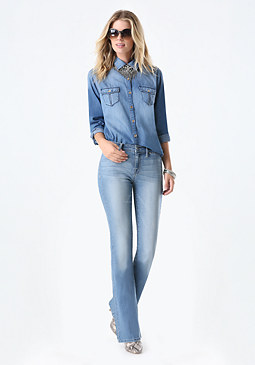 bebe Denim Shirt