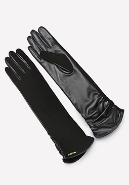 bebe Long Leather Gloves