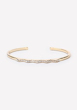 Zigzag Pave Cuff at bebe