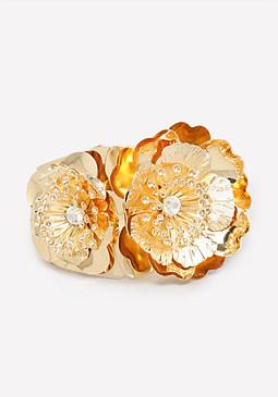bebe Metal Flower Bracelet