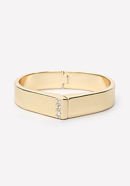 Sleek Metal Hinge Bracelet at bebe