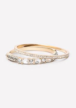 bebe Crystal Bracelet Set