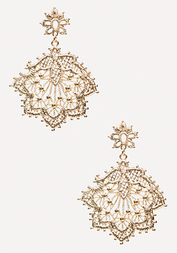 bebe Metal Lace Earrings