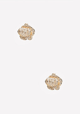 bebe Pave Flower Stud Earrings