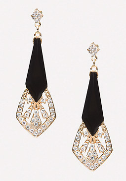 bebe Deco Metal Earrings