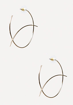 bebe Geometric Hoop Earrings