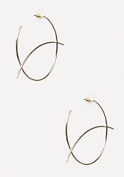 bebe Geometric Hoop Earrings