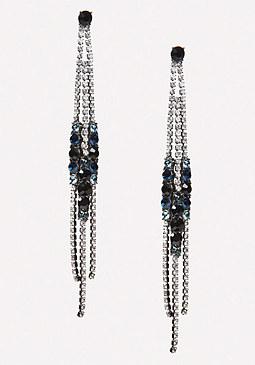 bebe Crystal Duster Earrings