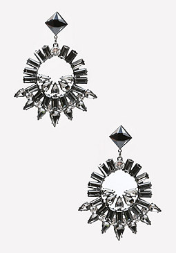 bebe Crystal Spike Earrings