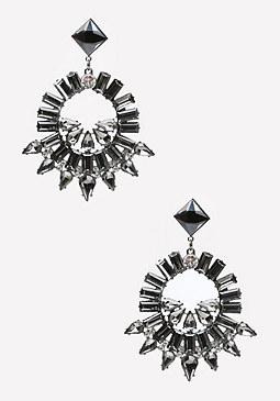 bebe Crystal Spike Earrings
