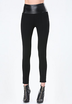 bebe High Rise Yoke Leggings