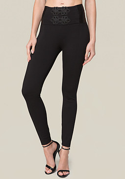 bebe Soutache High Rise Leggings
