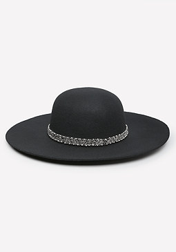 bebe Crystal Band Floppy Hat