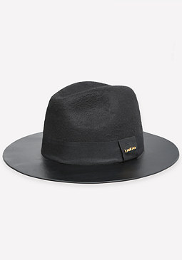 bebe Faux Leather Brim Fedora