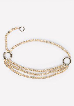 bebe Layered Chain Belt
