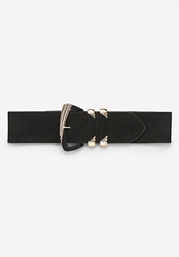 bebe Oversized Buckle Belt