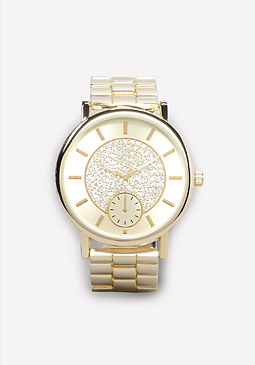 bebe Crystal Dial Watch