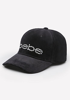 Logo Velour Baseball Cap
