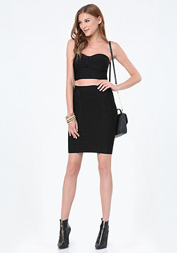 bebe 2-Piece Bandage Dress