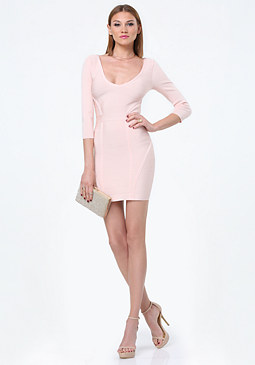 bebe Amy Double V Bandage Dress