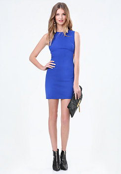 bebe Sarah Twill Side Band Dress