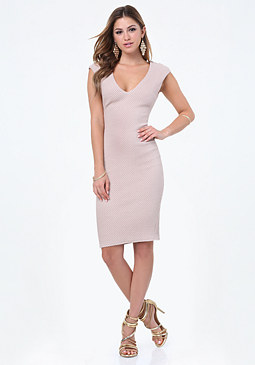 bebe Janice Jacquard Knit Dress