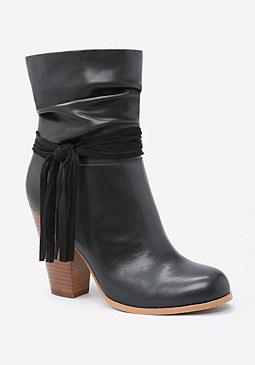 bebe Nikolle Chunky Heel Booties