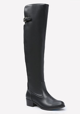 bebe Cleo Flat Riding Boots