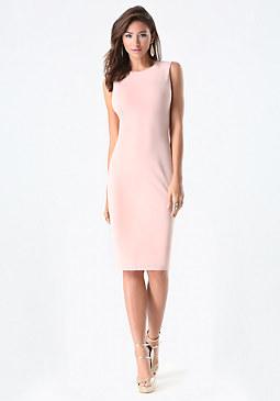bebe Sleeveless Midi Dress